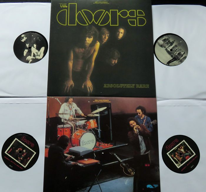 The Doors - Great lot of 2 albums (4LP's): Absolutely Rare & Whiskey, Mystics And Men