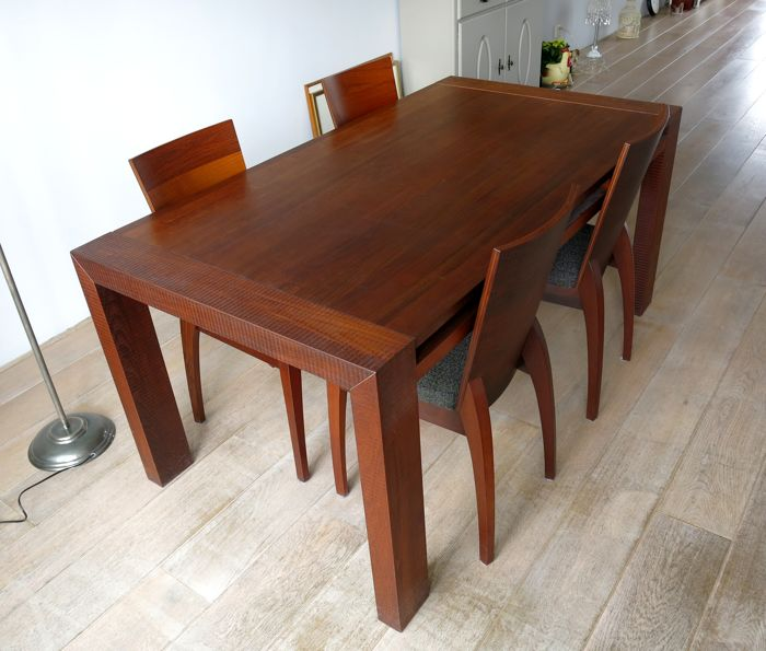 gohring thermobuche dining table with chairs puro series lot reference 17657485