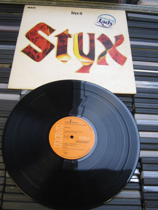 Nice Lot of 11 records from Styx,albums like: Styx 2/ Cornerstone/Caught in the Act/The grand illusion/Pieces of Eight/Paradise Theatre/ etc