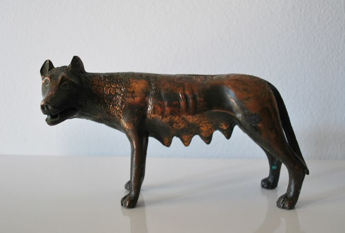 Roman she-wolf statue symbol of Rome - 20th century - Rome,  Italy