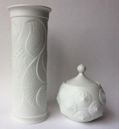 Kaiser and others, Pop art, biscuit vases - 5 x