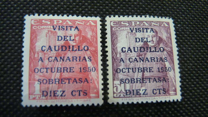 Spain 1951 - Visit of the Caudillo to Canarias – Edifil 1088/1089