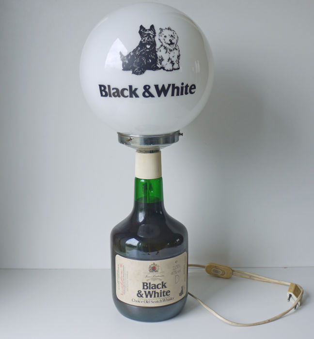"Old advertising lamp ""Black and White"" Scotch - Whisky"