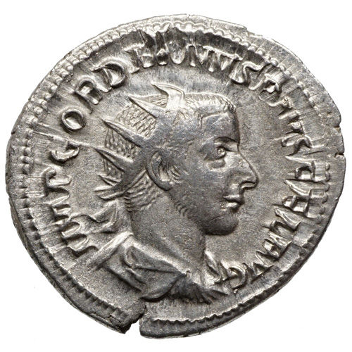 Roman Empire – Gordianus (238-244) AR Antoninianus, Rome, EMPEROR with lance and globe