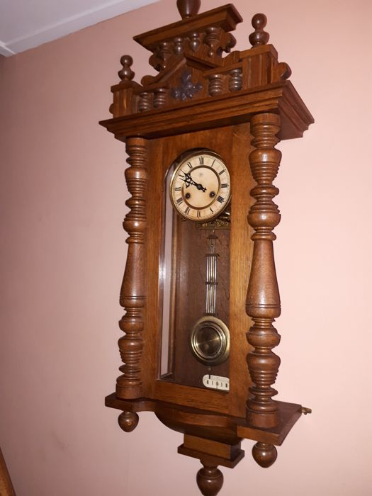 Oak Regulator Clock - period 1910-1920, the Netherlands
