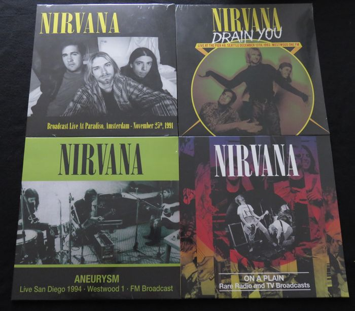 Nirvana - Great lot of 4 limited edition (500 copies each) LP's