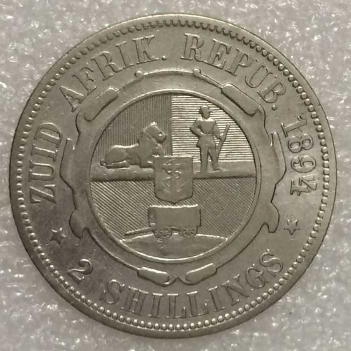 South Africa – 2 Shillings 1894 – silver