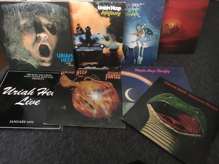 Uriah Heep. great lot of eight albums
