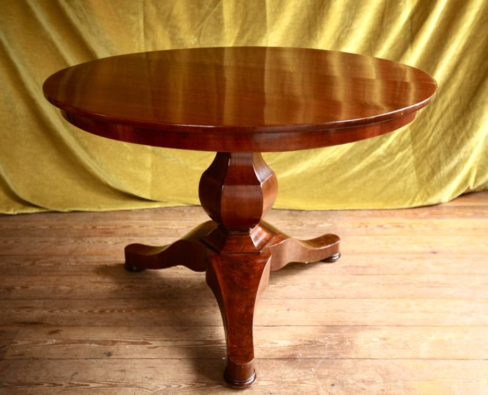 Biedermeier mahogany table