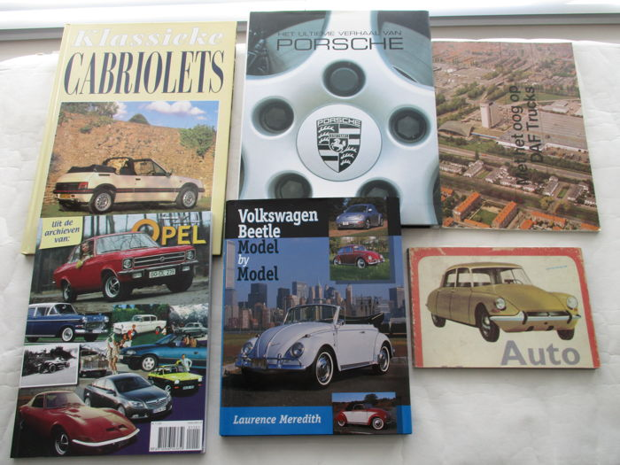 Set of 6 car books - beautiful reference books
