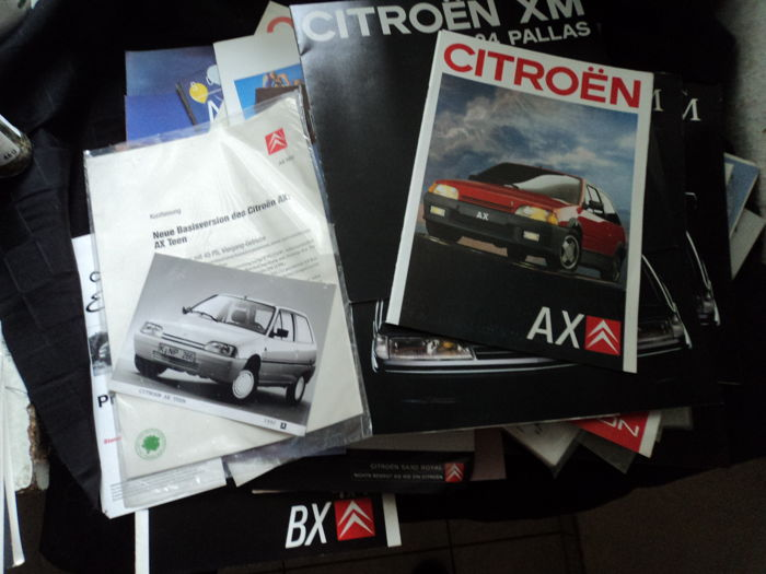 69 Citroën catalogues, brochures and photos from the 80s/90s