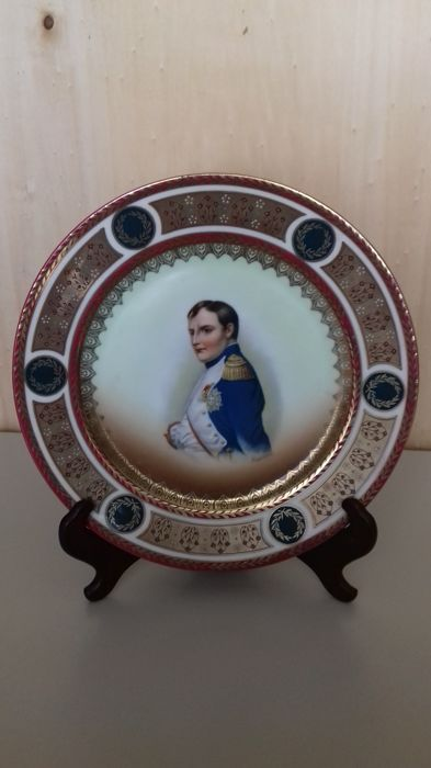 Old Vienna Porcelain Plate Hand Painted 245cm Marked M Z