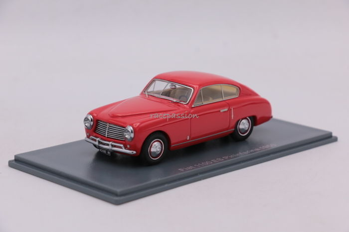 Neo Scale Miniatures - Schaal 1/43 - Fiat 1100 ES -  Pininfarina - 1950 - Color: Red