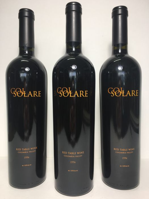 1996 Antinori Col Solare Red Wine, Columbia Valley, USA - 3 bottles (75cl)