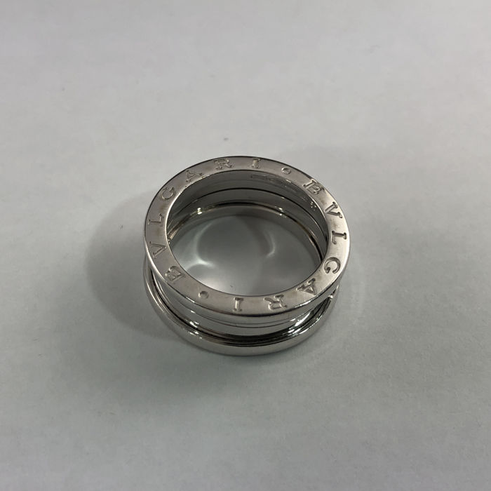 Bvlgari -  B.Zero1 Collection - Ref.1970AL - 3-band 18k White Gold - Lady's Ring