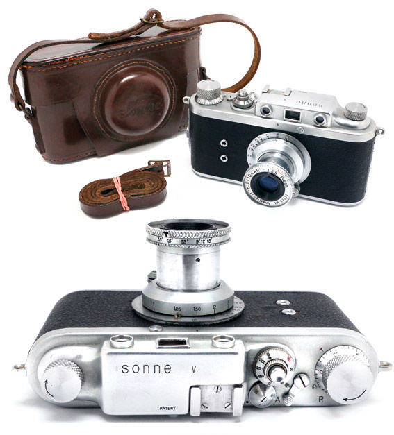 Sonne V Italian rangefinder camera - Leica copy - made in Italy