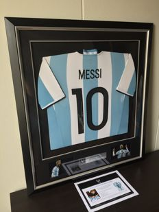 42b72789fab Lionel Messi - Signed   Premium framed World Cup Argentina shirt + COA and  Photoproof.