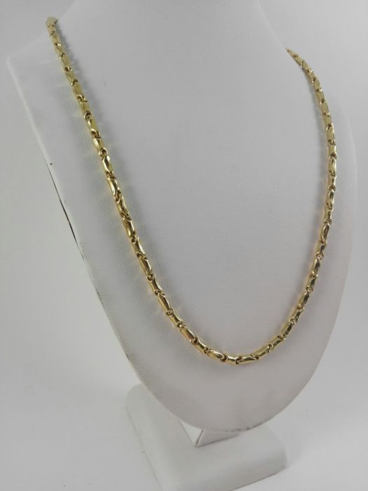 18 kt yellow gold men's necklace  Weight: 12.8 g
