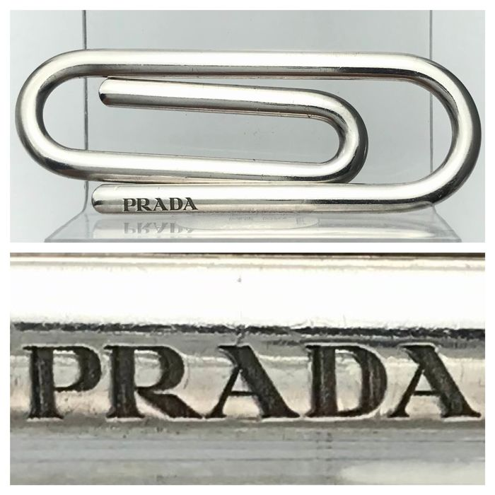 Prada - Silver money clip