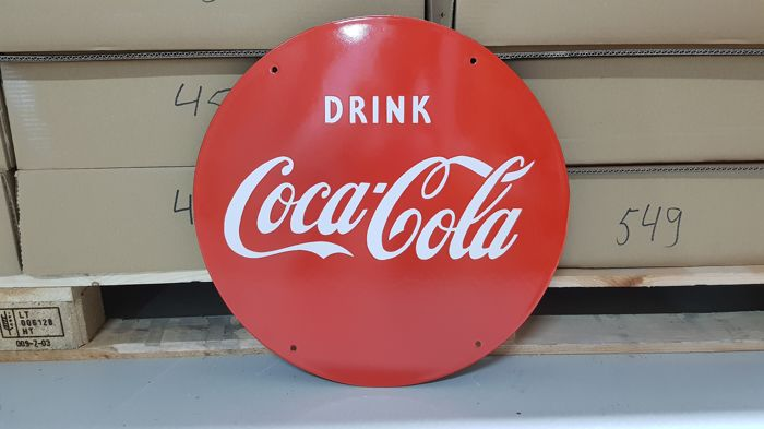 Coca Cola enamel sign