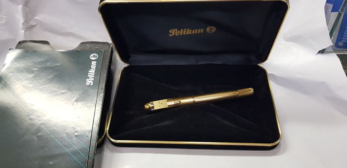 "Pellikan Souveran m760 fountain pen in18 kt gold, nib size ""M"", 150th anniversary, new!!!"