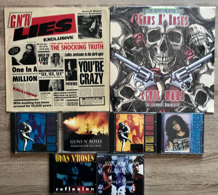 Guns 'n' Roses - lot of 6 CD - 2LP