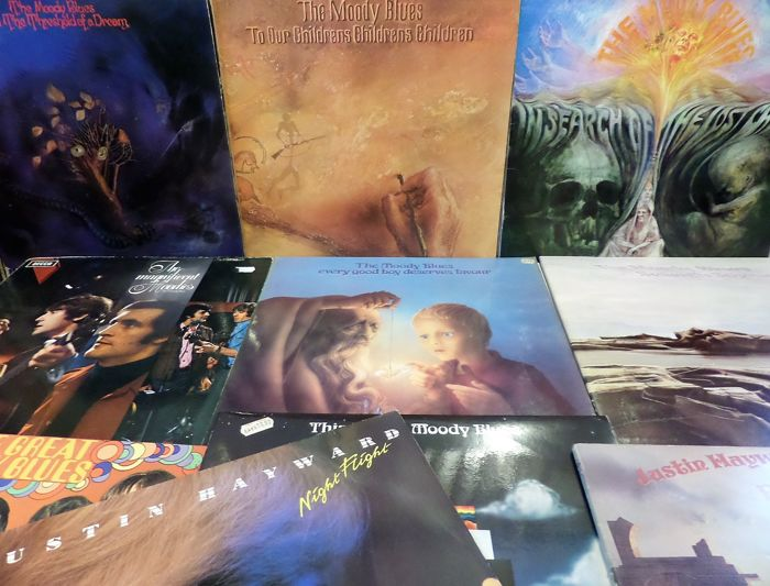 Lot of  10 great albums of the Moody Blues and related.