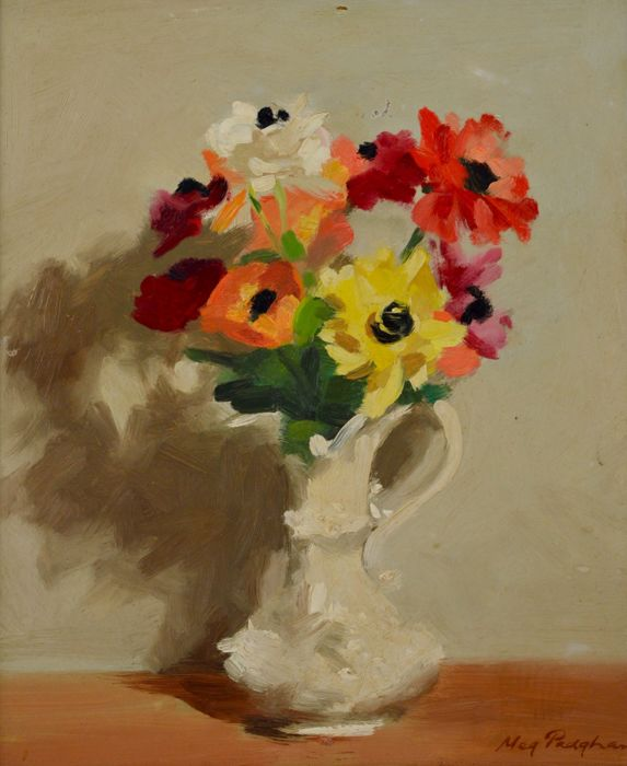 Meg Padgham 20th Century A Still Life Of A Vase Of Flowers