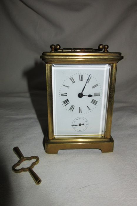 Officier Capuchin pendulum clock with alarm - circa  Circa 1900