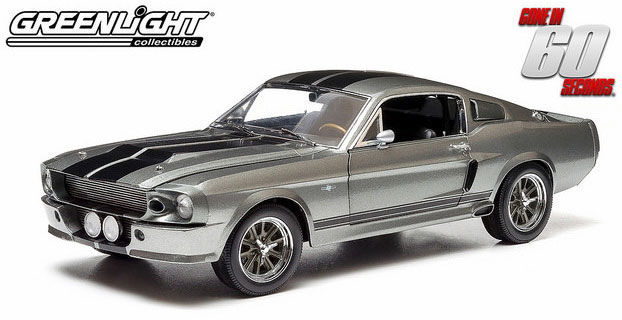 "Greenlight - scale 1/18 - Ford Shelby Mustang ""Eleanor"" 1967 - ""Gone in 60 Seconds"" - grey metallic/black"