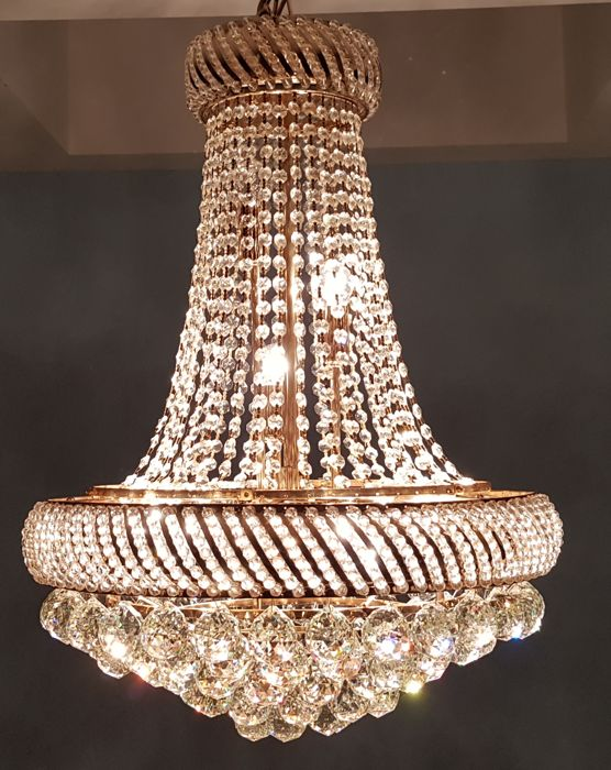 Chandelier Of High Quality Crystal End Last Century