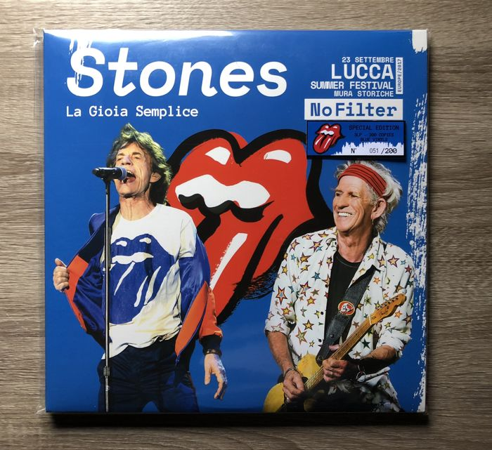 The Rolling Stones 3 LP - La Gioa Semplice (No 051/200) ON BLUE VINYL SPECIAL EDITION 200 COPIES