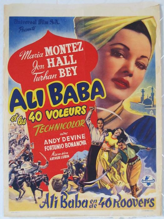 Ali Baba and the forty thieves (Maria Montez / Arthur Lubin, 1944) - 1948