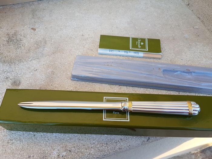 "paper cutter / letter opener ""ARIA OR"" Christofle brand"