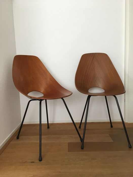 Vittorio Nobili for Tagliabue - Two Medea Dining chairs