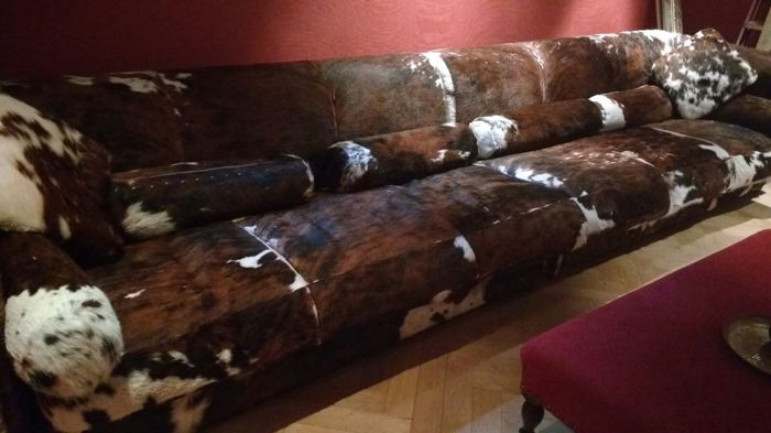 Sensational Baxter Leather Sofa Of Cowhide Catawiki Bralicious Painted Fabric Chair Ideas Braliciousco