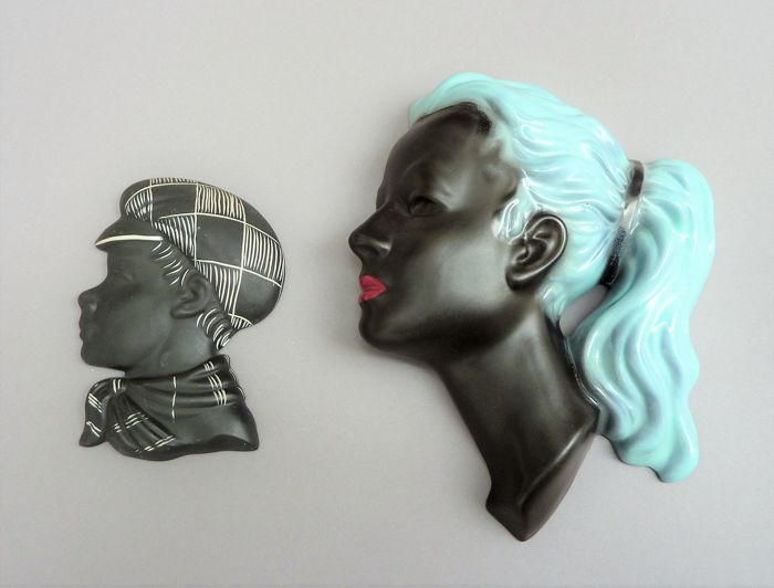 L' Ancora/ Kroon and Cortendorf - Two 1950s relief heads