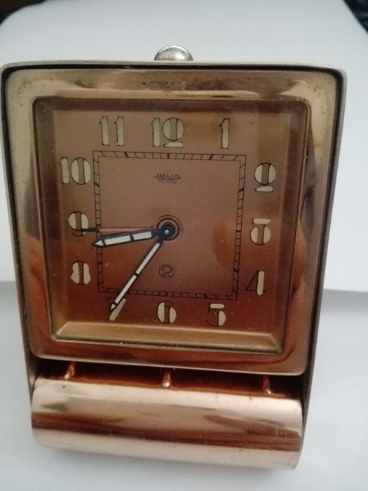 travel clock and table lamp jaeger le coultre - 60s period