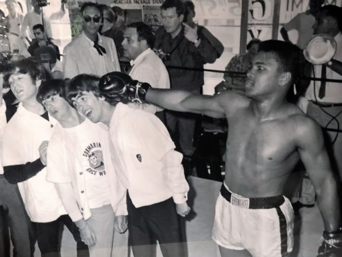 Photo with The Beatles + Muhammad Ali framed