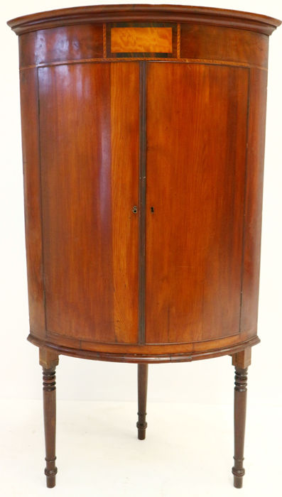 Mahogany Corner Cabinet On Stand   France   Ca. 1830