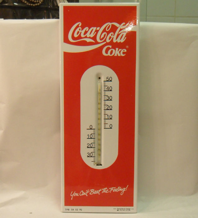 Coca- Cola Emaille thermometer.
