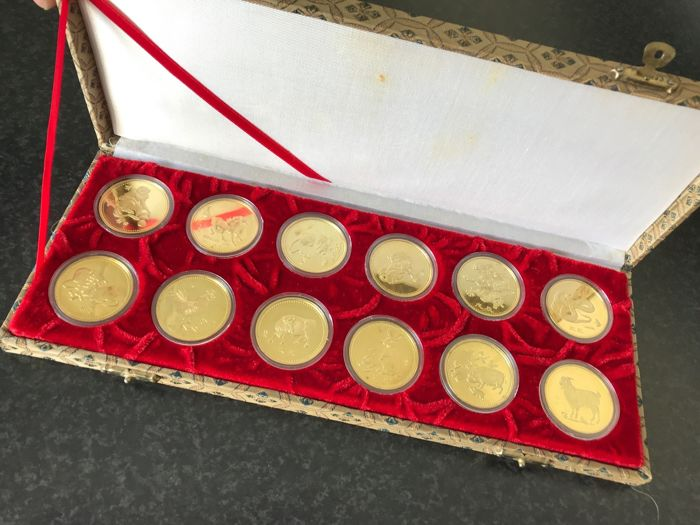China - Various medals 1982/1993 'Chinese Zodiac' (12 items