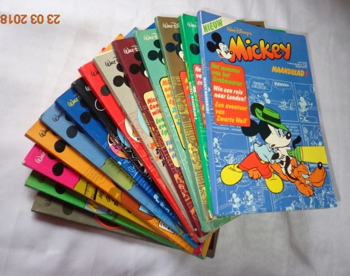Mickey - 41 x sc - 1st edition - Monthly - Walt Disney - 1976/1982