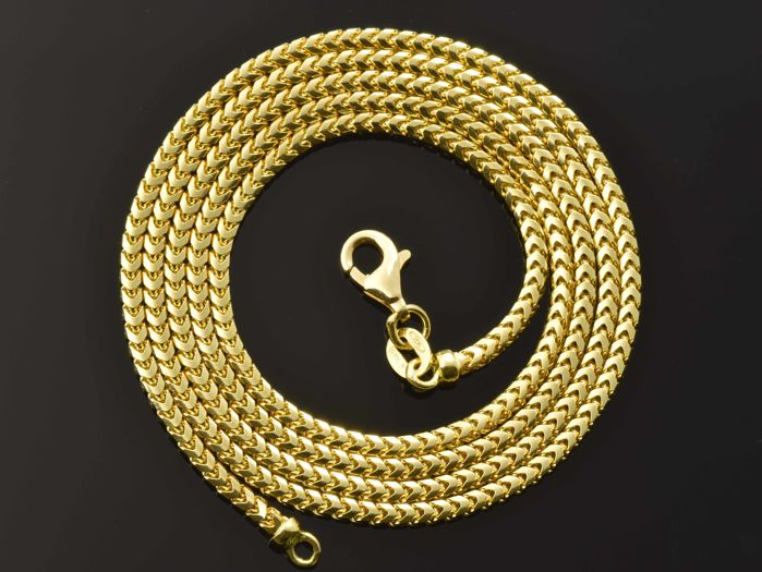 18k Gold Necklace Solid Chain - 60 cm
