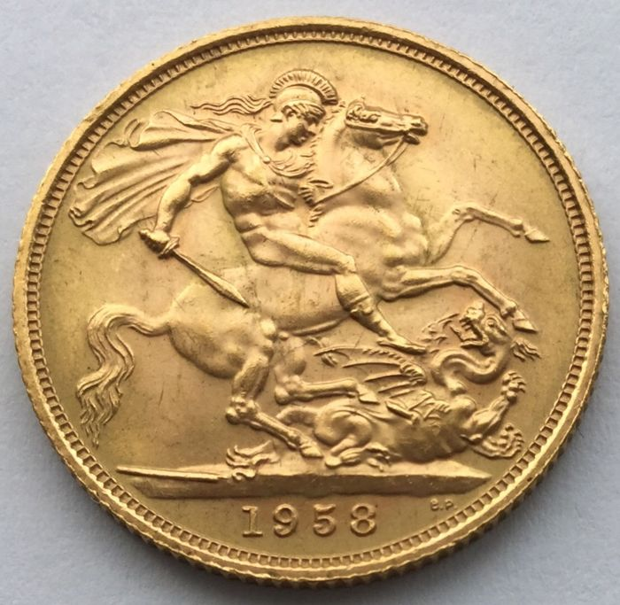 Great Britain – Sovereign 1958 –Elizabeth II – gold