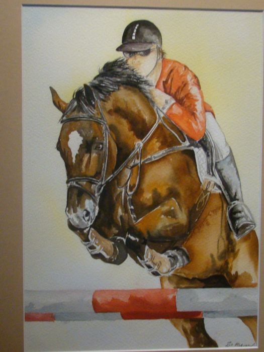 Zin - Horseman - Watercolour - 44 x 54 cm - signed Zin - in a frame
