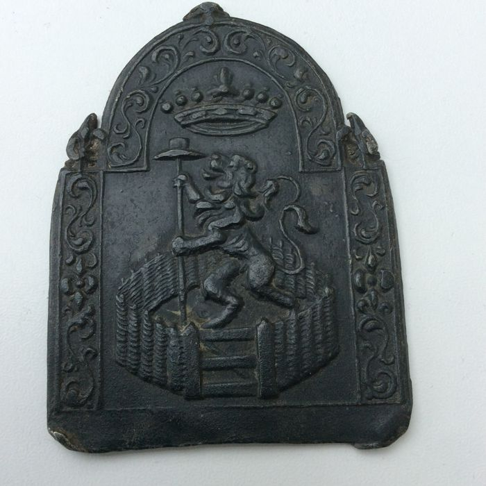 'Hollandse Tuin' - Miniature pewter firescreen - 17th century - The Netherlands