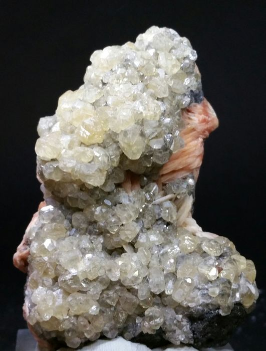Combination of Cerussite and Barite from Morocco - 75 x 50 mm - 275g