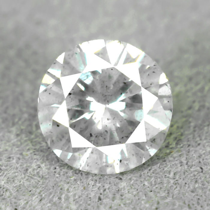 Natural Diamond - 0.62 ct, F/I2 - NO RESERVE PRICE - VG/VG/VG