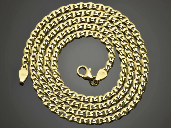 "18k Gold Necklace. Solid Chain ""Gucci, Diamond Cut"" · Length 60 cm · Weight 10.83 g."